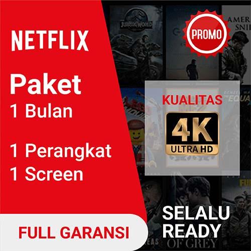 Netflix Netflix Premium UHD 4K - Netflix Shared (Max 1 Device) 30 Hari (Full Garansi)