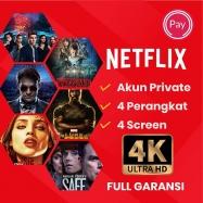 Netflix Private (Max 4 Device)  30 Hari, (Full Garansi)